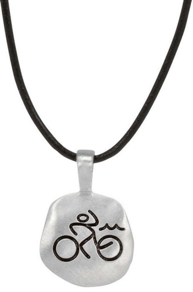 Mile Stone Triathlete Necklace