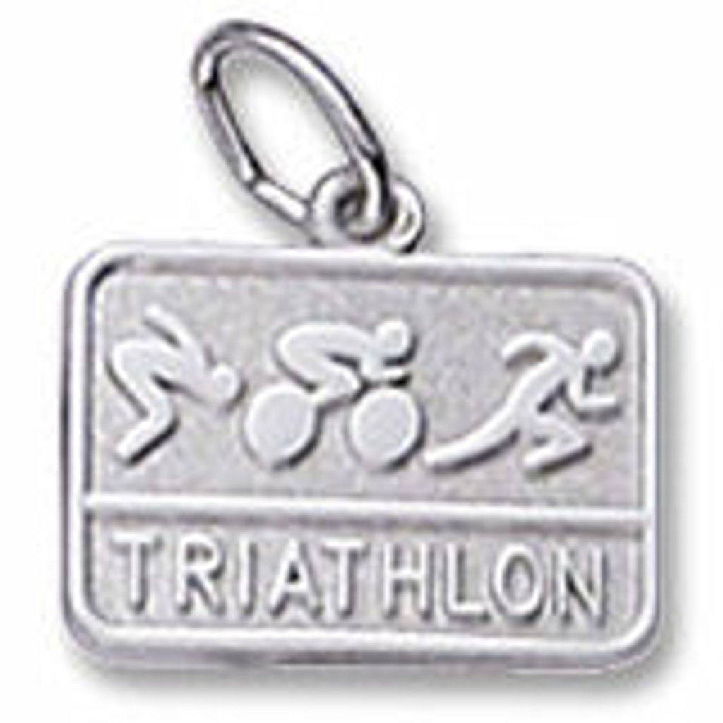Triathlon Engravable Charm