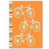 Orange Bike Lined Journal