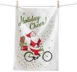 Holiday Cheer Santa Bike Towel