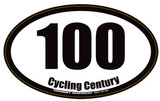 Cycling Century 100 Magnet or Decal