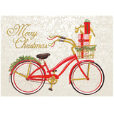 Christmas Red Bike Single Card