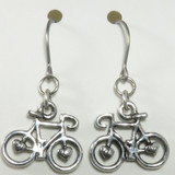 Wheel Love Pewter Bicycle Earrings