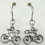 Wheel Love Pewter Bicycle Earrings