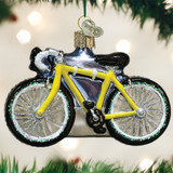 Road Bike Glass Ornament