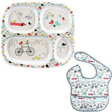 Toddler Melamine Bike Plate and Bib