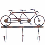 Rustic Tandem Bicycle Hooks