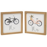 Mr and Mrs Bike Box Sign Set