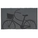 Black Grey Jacquard Bicycle Doormat