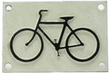 Cast Iron Bicycle Sign