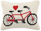 Tandem Heart Hook Pillow