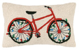 Bike with Lights Holiday Hook Pillow