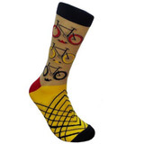 Beige Bicycles Dress Sock