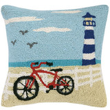 Coastal Bicycle Hook Pillow