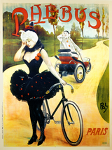 Phebus Vintage French Bicycle Poster by PAL