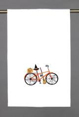 Spider Web Halloween Bike Kitchen Towel