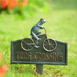 Frog Crossing Garden Bike Sign
