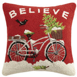 Believe Bicycle Hook Pillow