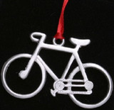 Road Bike Pewter Ornament