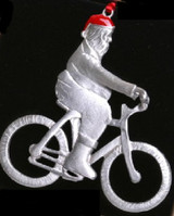 Santa on Bike with Red Hat