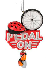 Pedal On Ceramic Bicycle Ornament