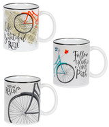 Inspirational Bicycle Mugs  3 designs