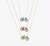 Delicate Bicycle Necklace 3 Versions