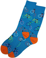 Turquoise Bright Bikes Mens Dress Sock