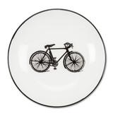 White and Black Bicycle Pin Dish