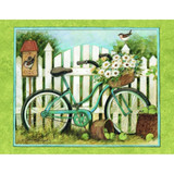 Blue Bicycle Note Card