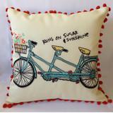 Runs on Sugar & Sunshine Pillow