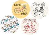 Bike Car Coasters 4 designs