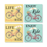 Set of 4 Absorbent Coasters