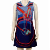 Bold Colors Bicycle Sport Dress FRONT