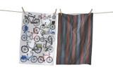 Bold bikes dishtowel set of 2