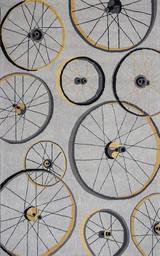 Grey Wheels In Motion Area Rug 8 x 10