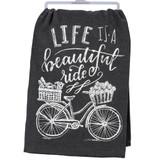 Beautiful Ride Chalkboard Dishtowel