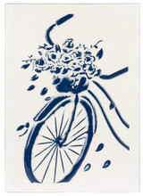 Blue & White Embossed Enamel Wall Art