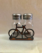Rustic Iron Bicycle Salt and Pepper Set
