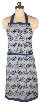 Navy Bike Cotton Designer Apron