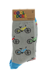 Multi colored Grey Bicycle Crew Socks