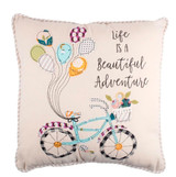 Beautiful Adventure Bicycle Pillow