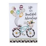 Beautiful Adventure Bicycle Tea Towel