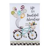 Beautiful Adventure Bicycle Tea Towel