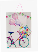 All Occasion Floral Bike 17 inch Gift Bag