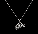 Sterling Silver Tandem Necklace