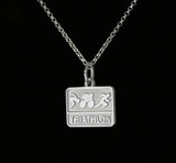 Triathlon Sterling Silver Necklace