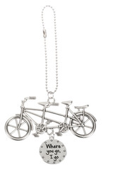 Where You Go Bicycle Car Charm