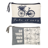 Bicycle Saying Zipper Bag 2 versions
