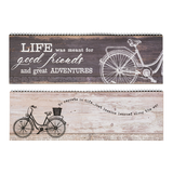 Urban Wood and Metal Bicycle Signs 2 designs